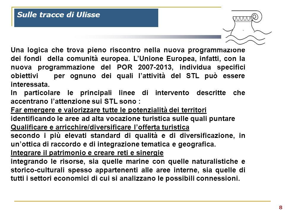 8 Sulle tracce di Ulisse Una logica che trova pieno riscontro nella nuova programmazione dei fondi della comunità europea.