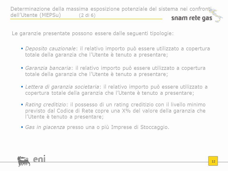 12 Le garanzie presentate possono essere dalle seguenti tipologie: Deposito cauzionale: il relativo importo può essere utilizzato a copertura totale d