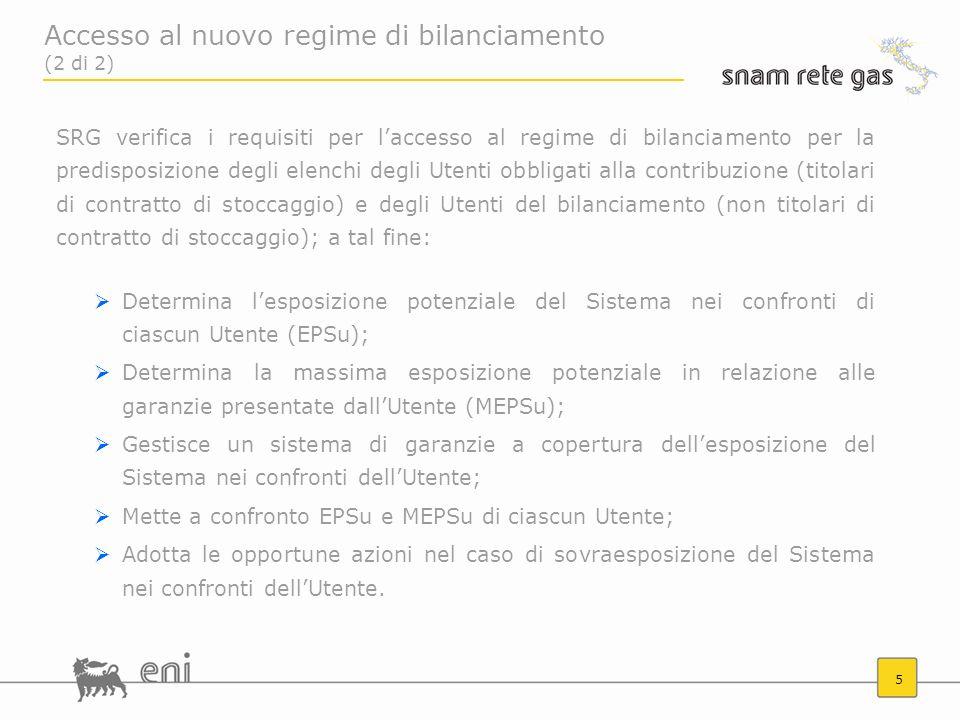 5 SRG verifica i requisiti per laccesso al regime di bilanciamento per la predisposizione degli elenchi degli Utenti obbligati alla contribuzione (tit