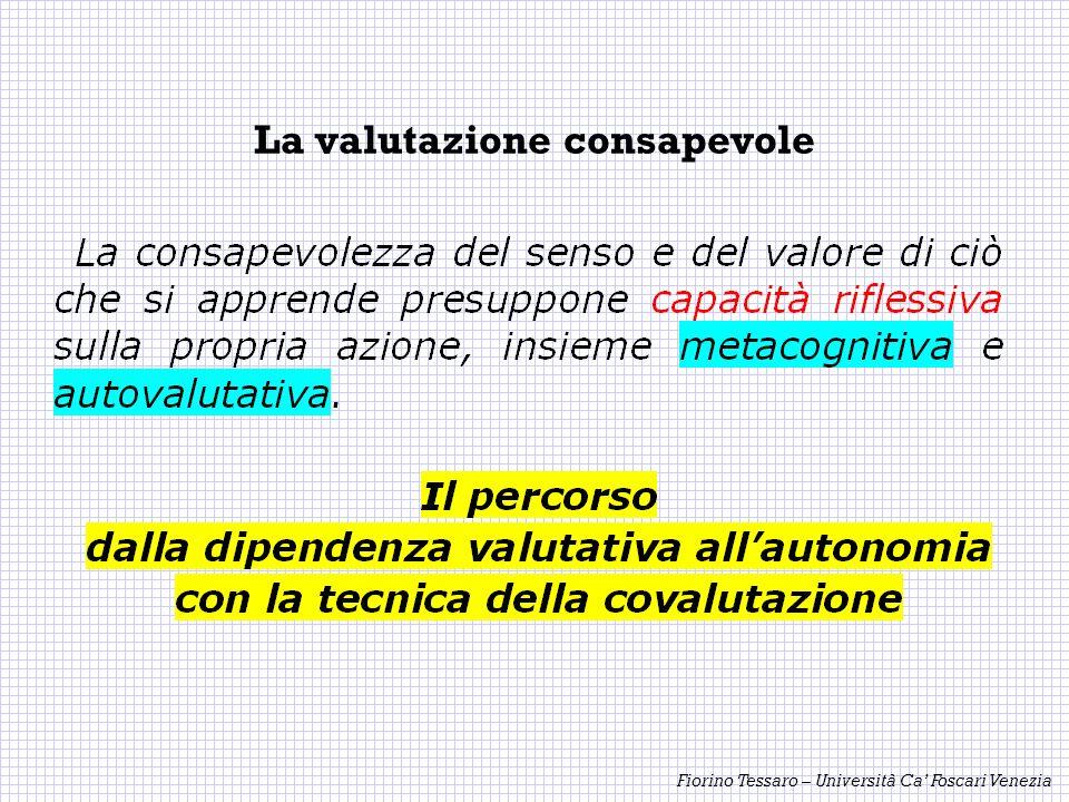 Fiorino Tessaro – Università Ca Foscari Venezia La valutazione consapevole