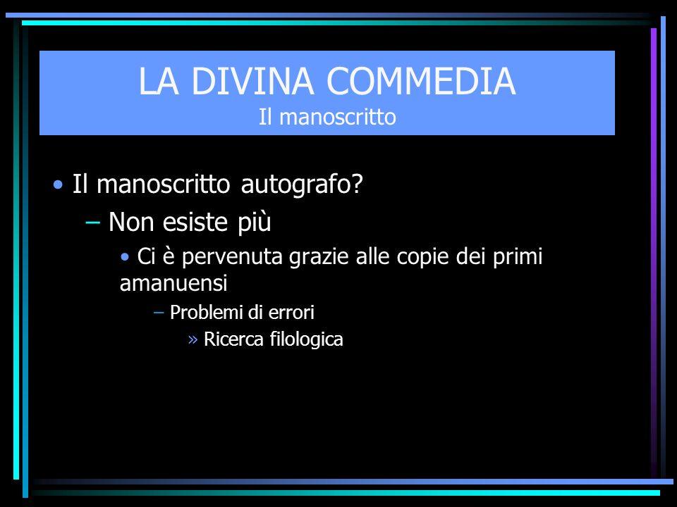 LA DIVINA COMMEDIA Il Titolo (1) Dante intitolò il poema Commedia o meglio Comedìa Ha un inizio orribile e triste, ma una fine lieta e felice.