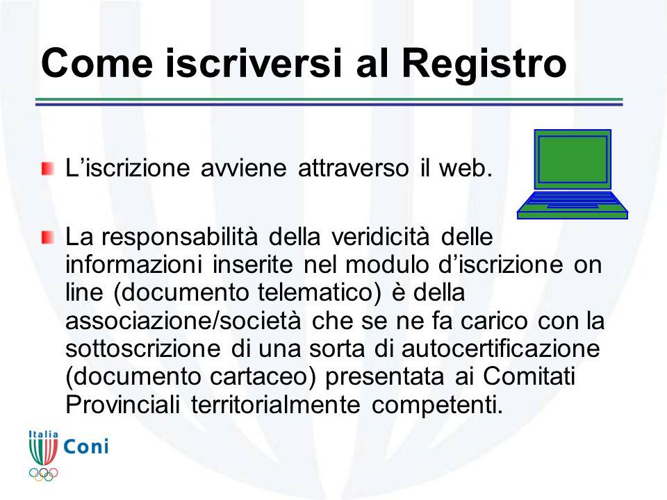 Come iscriversi al Registro Liscrizione avviene attraverso il web.