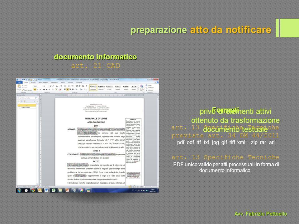 documento informatico art. 21 CAD Formati art. 13 Specifiche Tecniche previste art.