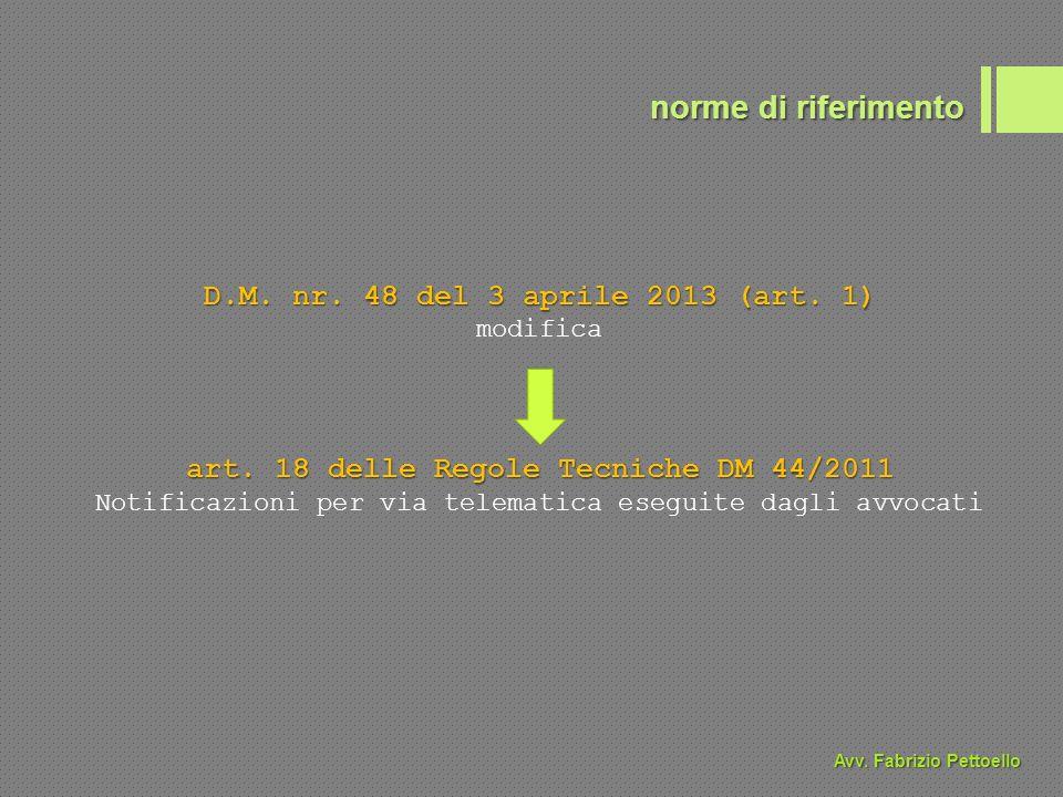 D.M. nr. 48 del 3 aprile 2013 (art. 1) modifica art.