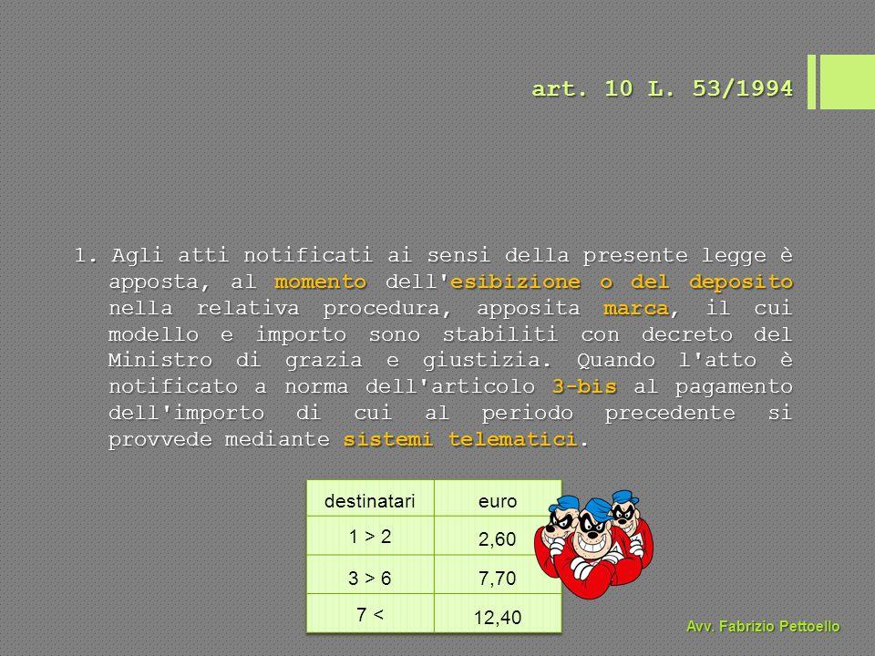 art. 10 L. 53/1994 1.