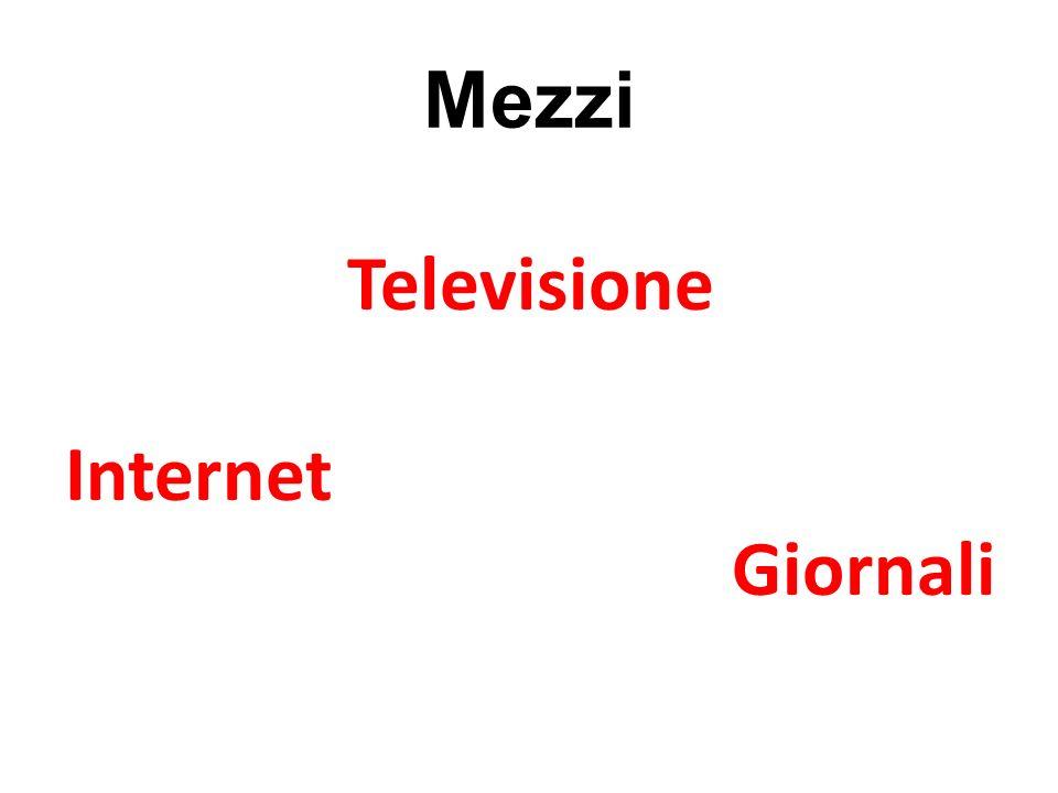 Mezzi Televisione Internet Giornali