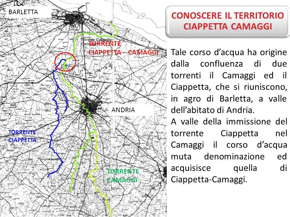 Tale corso dacqua ha origine dalla confluenza di due torrenti il Camaggi ed il Ciappetta, che si riuniscono, in agro di Barletta, a valle dellabitato