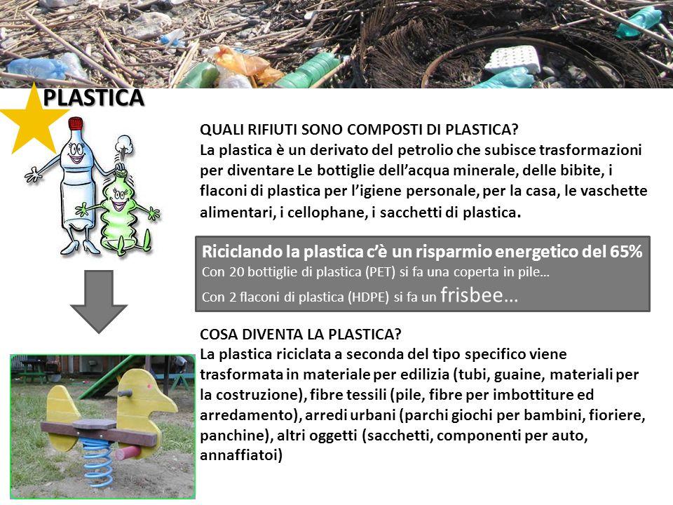PLASTICA QUALI RIFIUTI SONO COMPOSTI DI PLASTICA? La plastica è un derivato del petrolio che subisce trasformazioni per diventare Le bottiglie dellacq