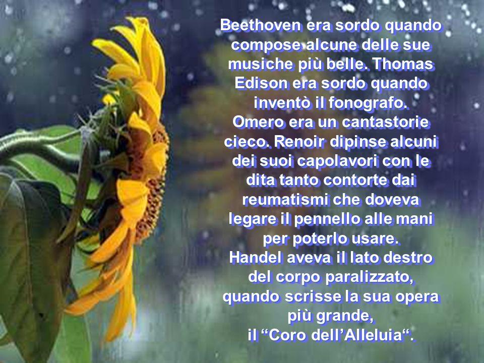 Beethoven era sordo quando compose alcune delle sue musiche più belle.