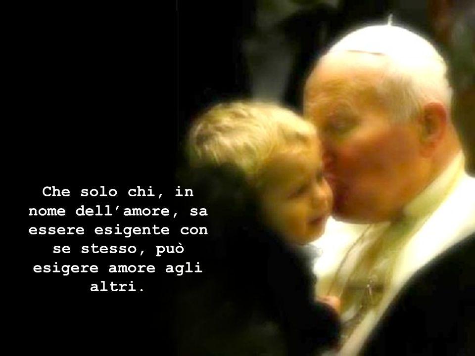 Che un giovane senza gioia e senza speranza non è un giovane autentico, bensì un uomo invecchiato.