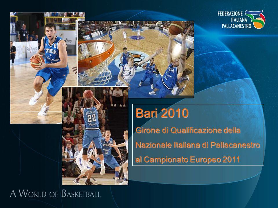 Bari 2010 Girone di Qualificazione della Nazionale Italiana di Pallacanestro al Campionato Europeo 2011