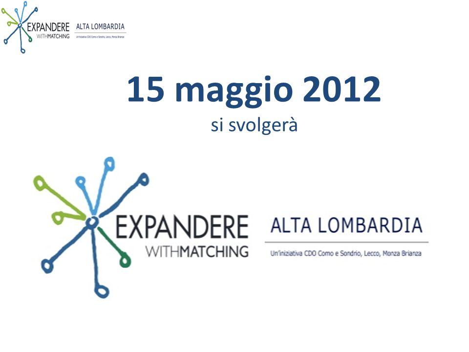 15 maggio 2012 si svolgerà
