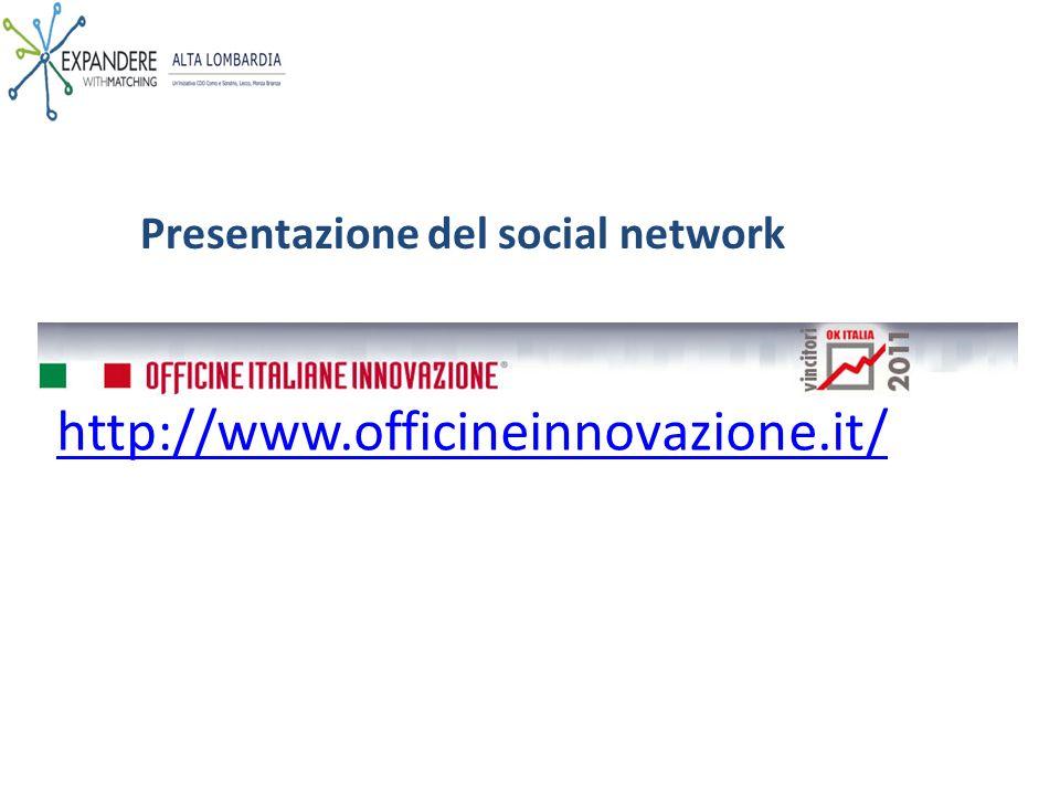Presentazione del social network http://www.officineinnovazione.it/
