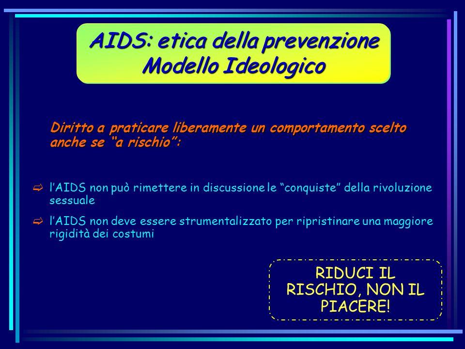 Diritto a praticare liberamente un comportamento scelto anche se a rischio: lAIDS non può rimettere in discussione le conquiste della rivoluzione sess