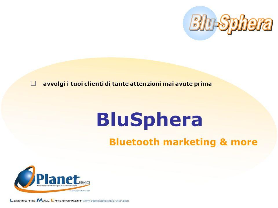 q avvolgi i tuoi clienti di tante attenzioni mai avute prima BluSphera Bluetooth marketing & more