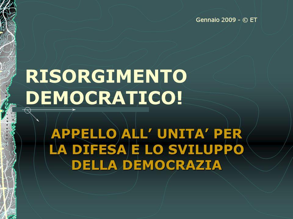 RISORGIMENTO DEMOCRATICO.