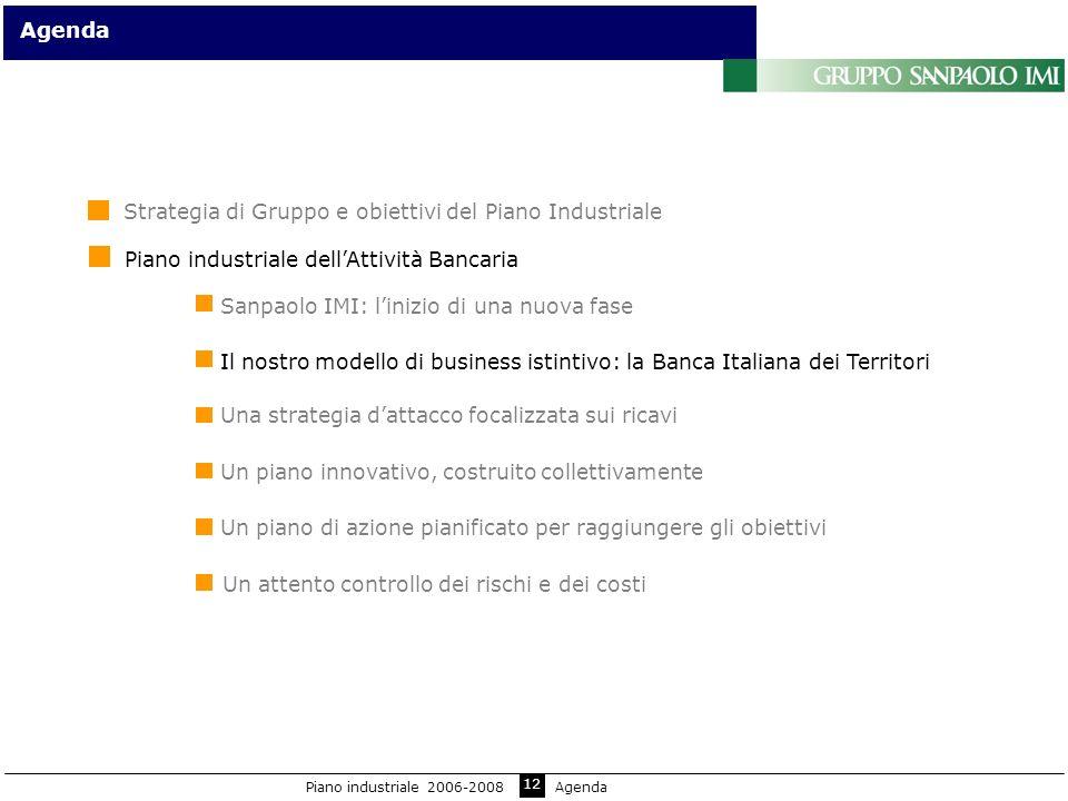 12 Sanpaolo IMI: linizio di una nuova fase Agenda Il nostro modello di business istintivo: la Banca Italiana dei Territori Un piano innovativo, costru