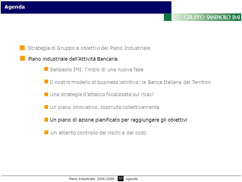 33 Sanpaolo IMI: linizio di una nuova fase Agenda Il nostro modello di business istintivo: la Banca Italiana dei Territori Un piano innovativo, costru