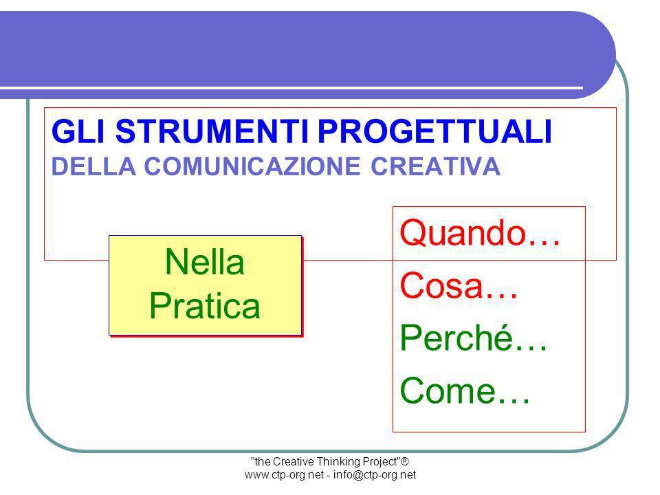 the Creative Thinking Project ® www.ctp-org.net - info@ctp-org.net I Nostri Dialoghi Dei Riferimenti Chiari Ho degli sbalzi di capacità impressionante: memoria, ragionamento, intuizione, attenzione, ecc.