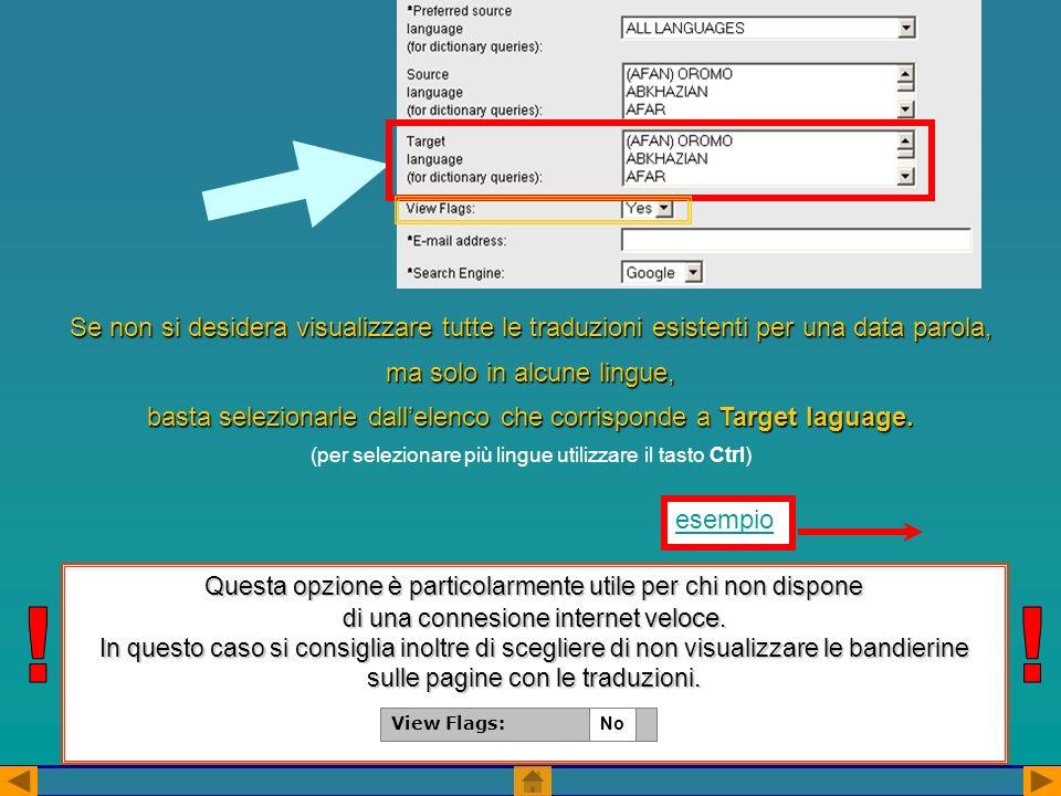 Questa opzione è particolarmente utile per chi non dispone di una connesione internet veloce.