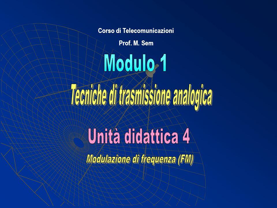 Corso di Telecomunicazioni Prof. M. Sem