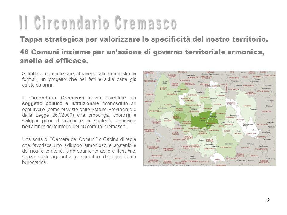 2 Tappa strategica per valorizzare le specificità del nostro territorio.