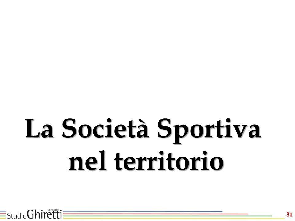 31 La Società Sportiva nel territorio