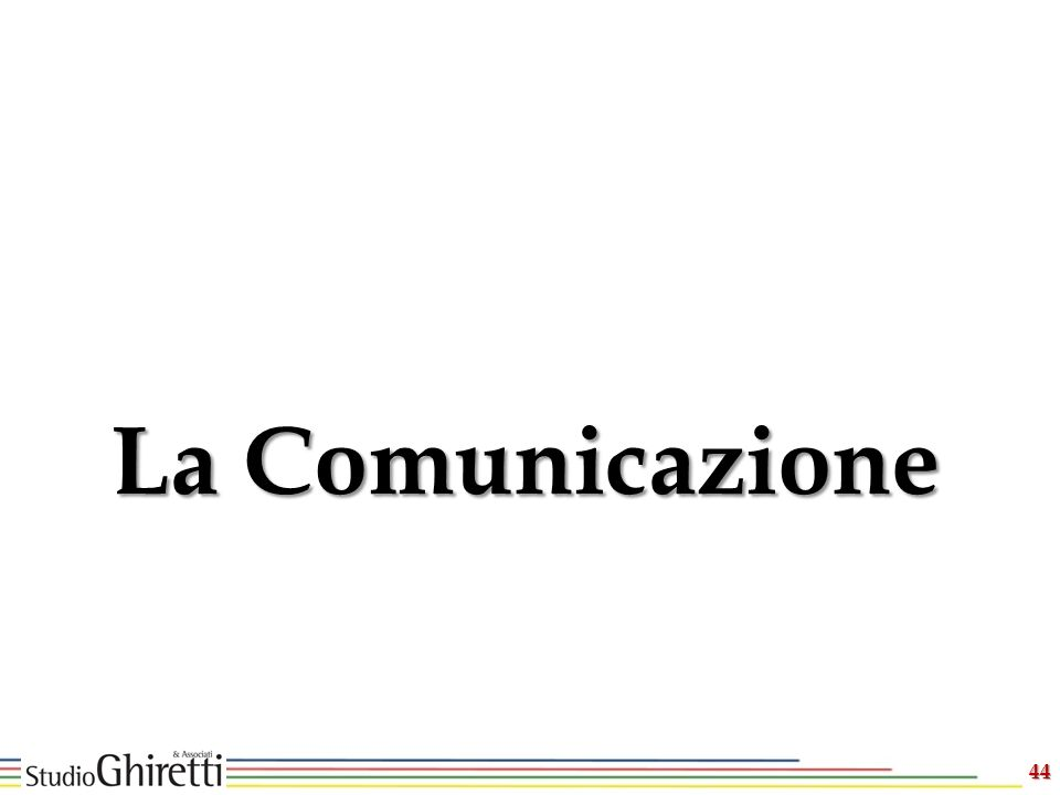 44 La Comunicazione
