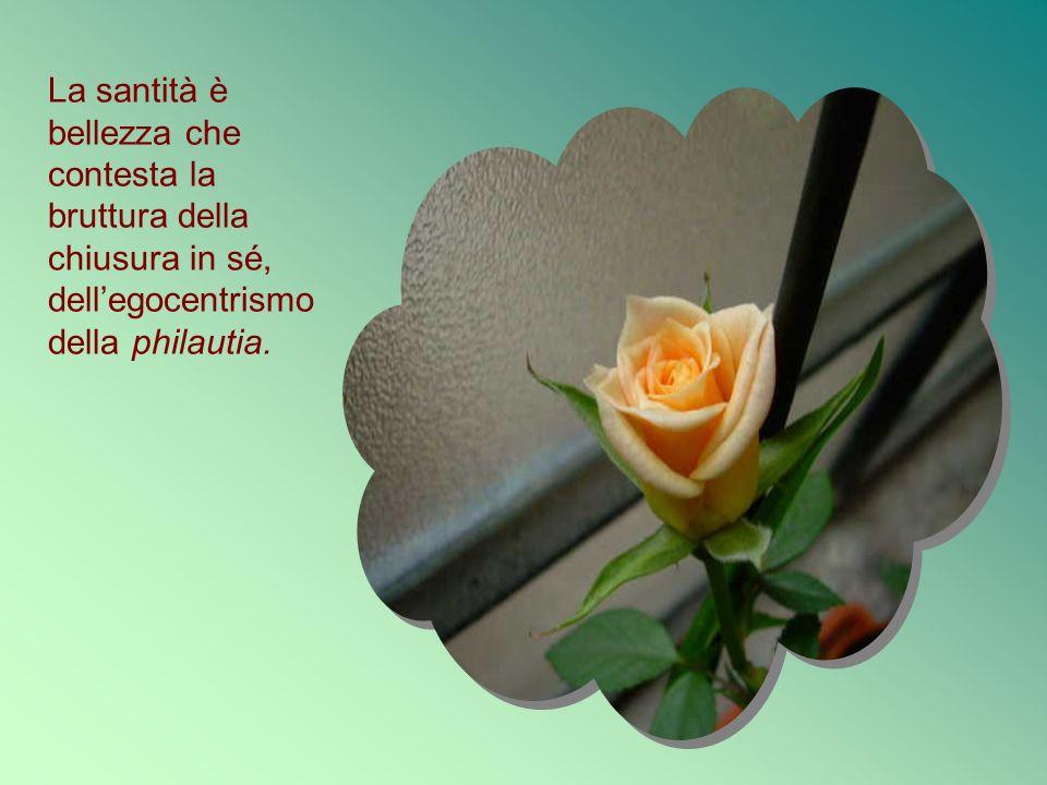 La santità è bellezza che contesta la bruttura della chiusura in sé, dellegocentrismo della philautia.