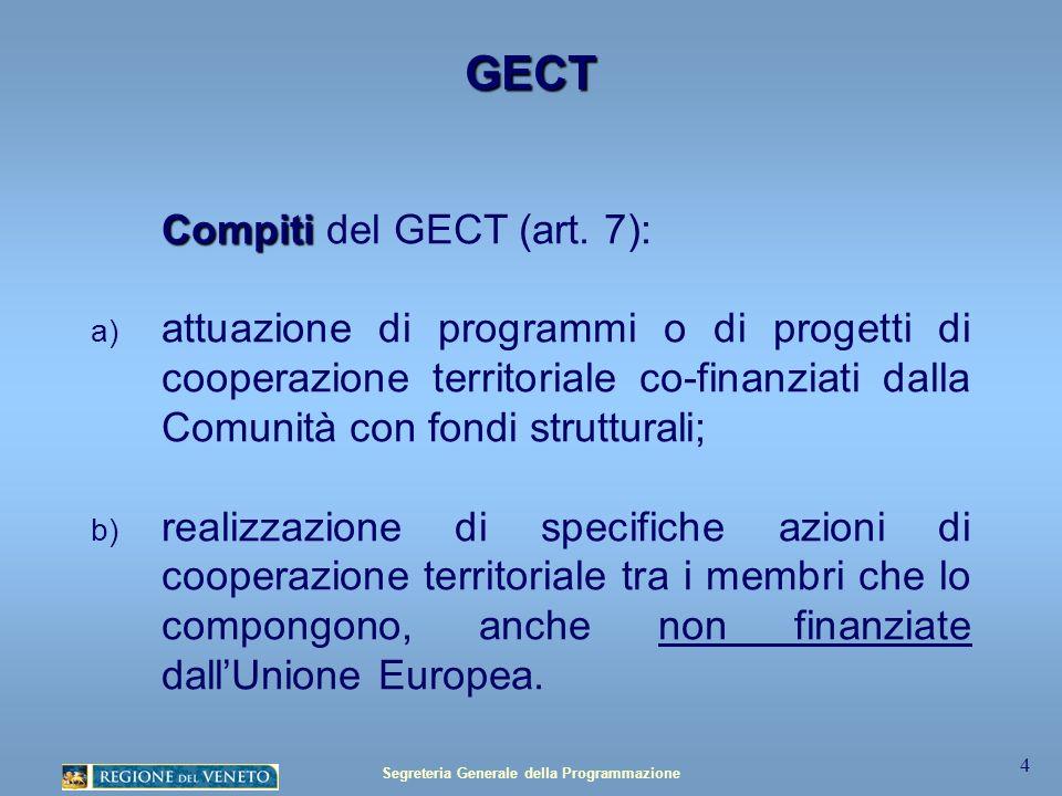 Segreteria Generale della Programmazione 15 Distribuzione geografica progetti Progetti totali: 49 Partnership fra VEN – FVG - KAR Interreg IV Italia Austria