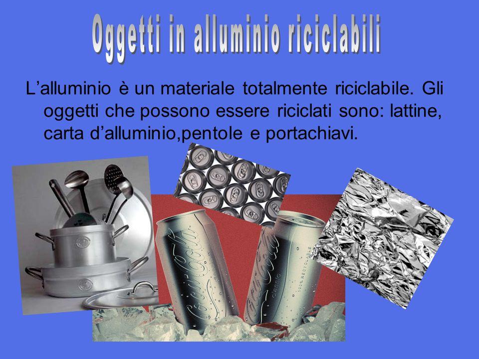 Lalluminio è un materiale totalmente riciclabile.