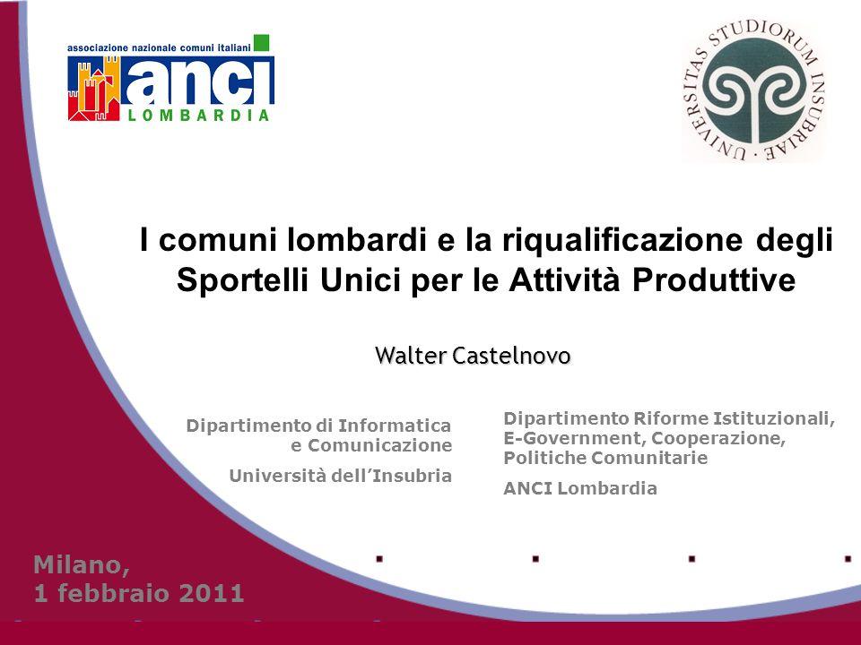 Lapproccio di ANCI Lombardia Modalità attuative perseguire la condivisione di obiettivi, prospettive progettuali e piani di attuazione da parte di tutti i soggetti che costituiscono il sistema della P.A.L.