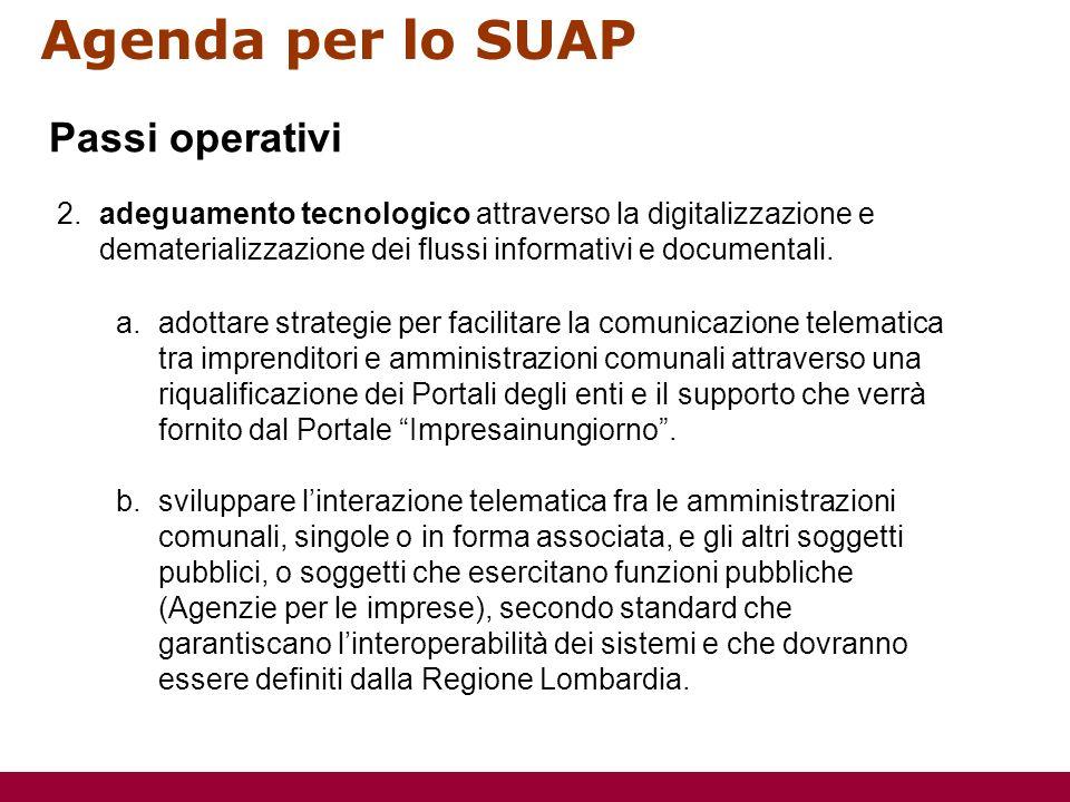 Agenda per lo SUAP 2.