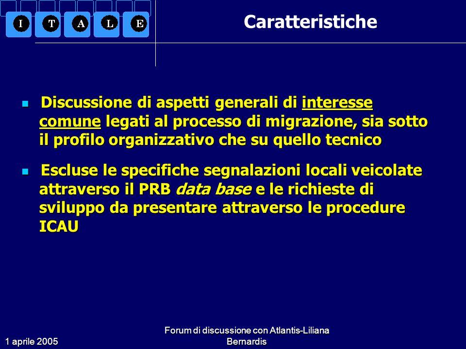 1 aprile 2005 Forum di discussione con Atlantis-Liliana Bernardis Organizzazione e pianificazione Quesito 5 Alcune novità della versione 16.02 comportano una totale revisione dellimpostazione di lavoro attuata con le versioni precedenti.