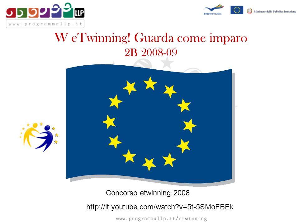 W eTwinning! Guarda come imparo 2B 2008-09 Concorso etwinning 2008 http://it.youtube.com/watch?v=5t-5SMoFBEk