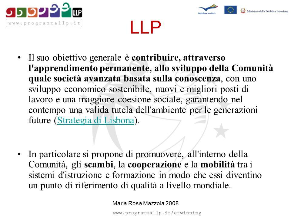 LLP Il suo obiettivo generale è contribuire, attraverso l'apprendimento permanente, allo sviluppo della Comunità quale società avanzata basata sulla c