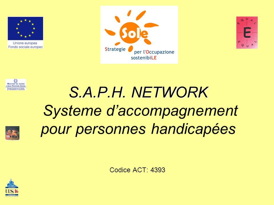 S.A.P.H. NETWORK S.A.P.H. NETWORK Systeme daccompagnement pour personnes handicapées Codice ACT: 4393