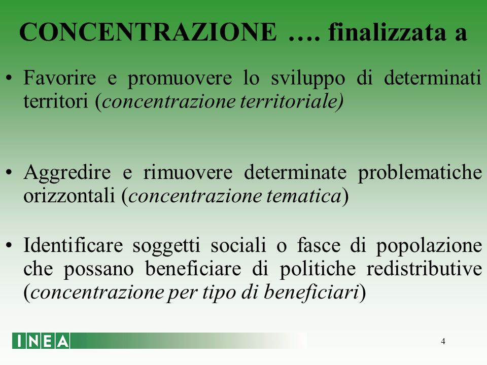 4 CONCENTRAZIONE ….