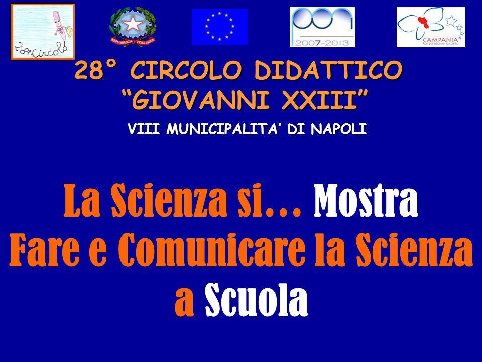 28° CIRCOLO DIDATTICO GIOVANNI XXIII VIII MUNICIPALITA DI NAPOLI La Scienza si… Mostra Fare e Comunicare la Scienza a Scuola