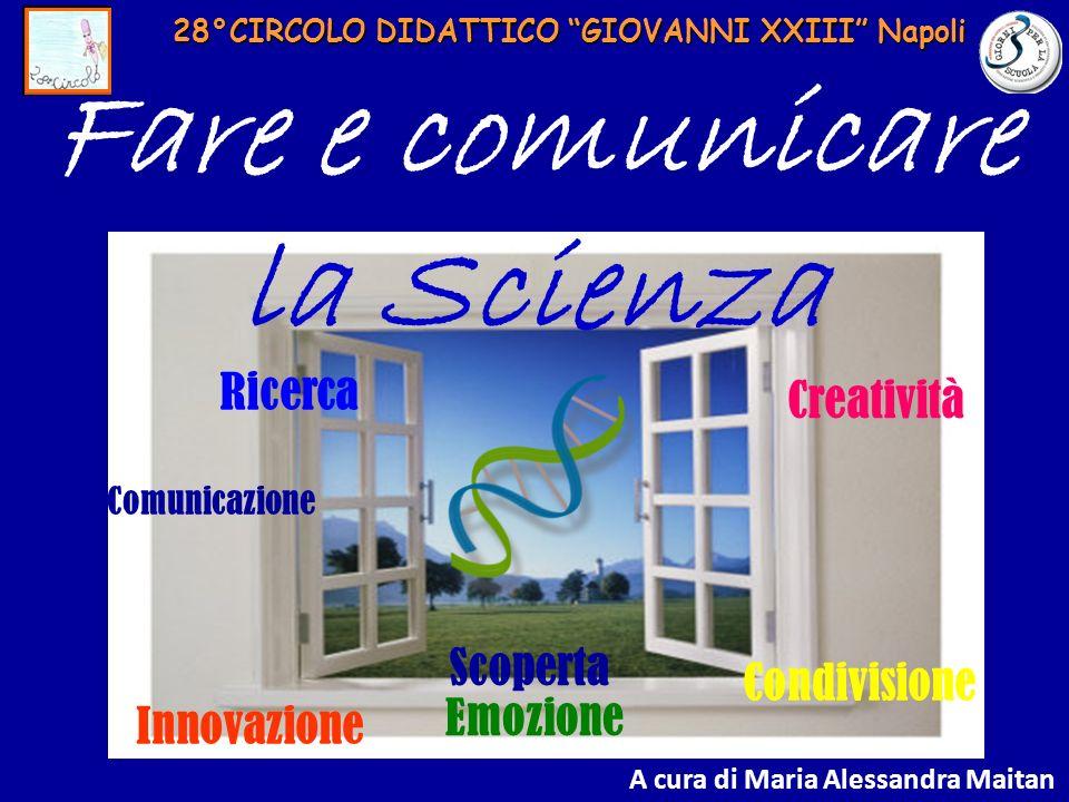 28°CIRCOLO DIDATTICO GIOVANNI XXIII Napoli Fare e comunicare la Scienza Comunicazione Innovazione Scoperta Emozione Creatività Condivisione Ricerca A