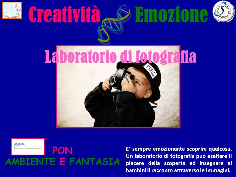 EmozioneCreatività Laboratorio di fotografia PON AMBIENTE E FANTASIA E sempre emozionante scoprire qualcosa.