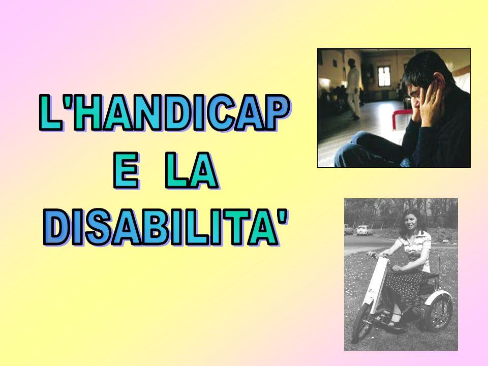 Il termine disabilità riassume un gran numero di limitazioni fisiche di diverso tipo che esistono in ogni popolazione in ogni paese del mondo; la gente può essere disabile per impedimenti fisici intellettuali o sensoriali, per malattie o per infermità mentale.