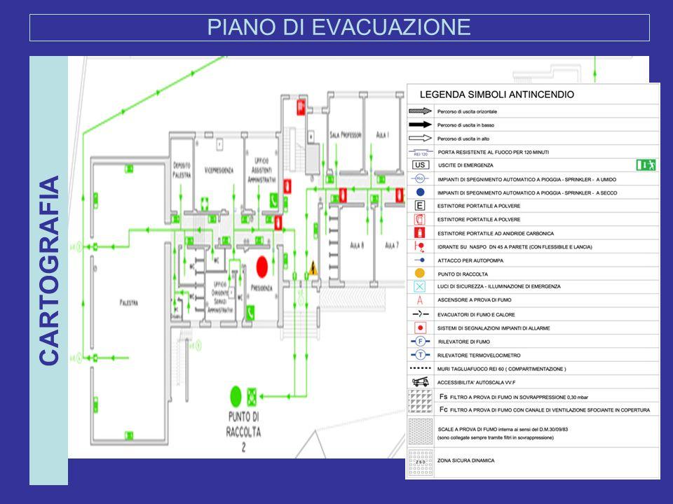 PIANO DI EVACUAZIONE CARTOGRAFIA