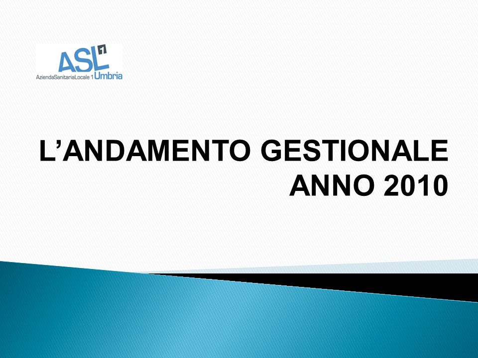 LANDAMENTO GESTIONALE ANNO 2010