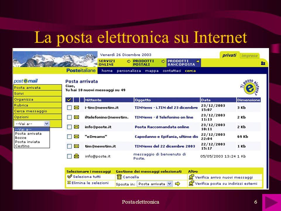 Posta elettronica6 La posta elettronica su Internet