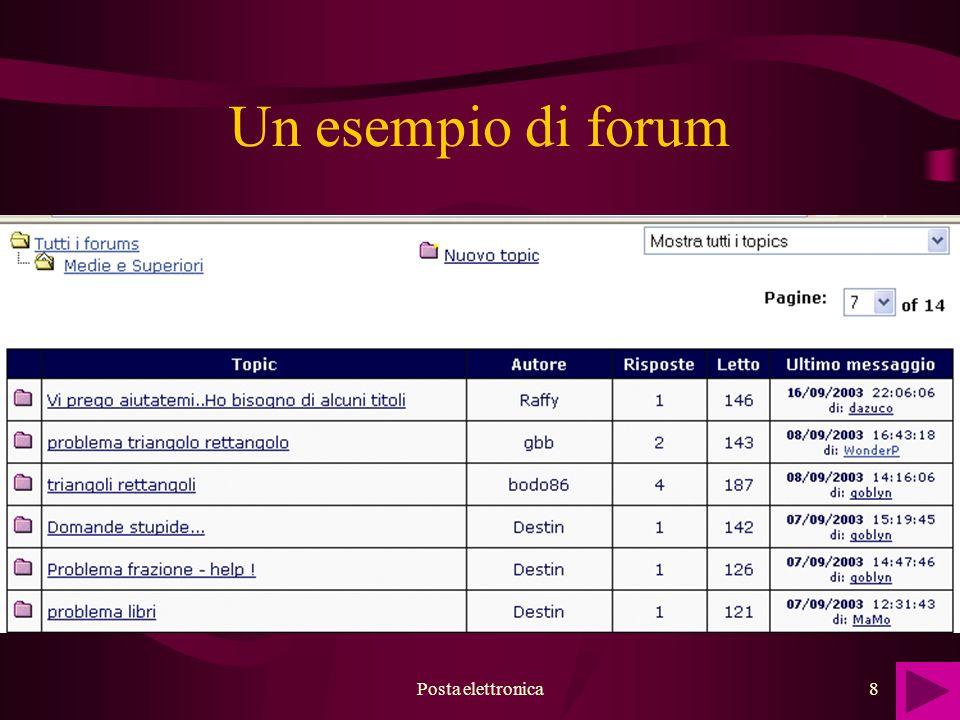 Posta elettronica8 Un esempio di forum