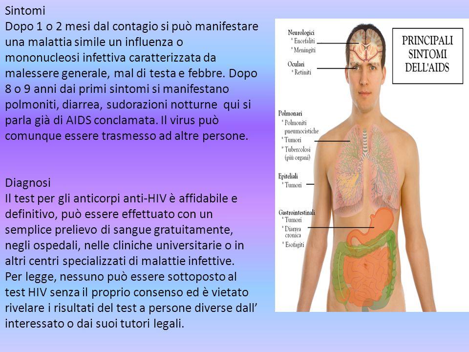 Sintomi Dopo 1 o 2 mesi dal contagio si può manifestare una malattia simile un influenza o mononucleosi infettiva caratterizzata da malessere generale