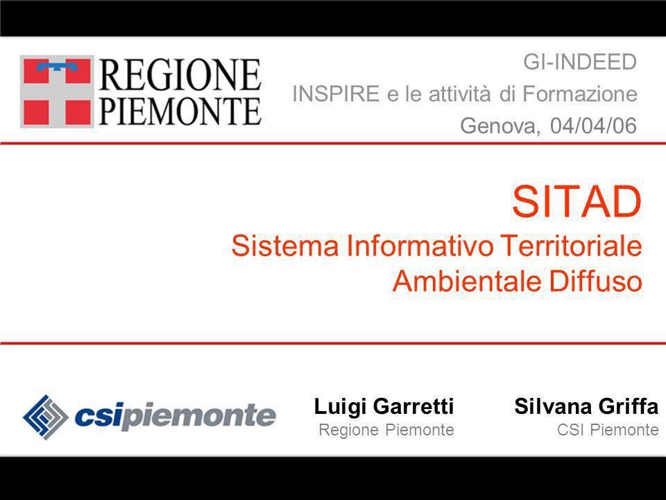 gg/mm/aa relatore evento SITAD 12 SITAD offre servizi di ricerca, di consultazione e di scarico delle informazioni territoriali ed ambientali gestite dagli enti della P.A.