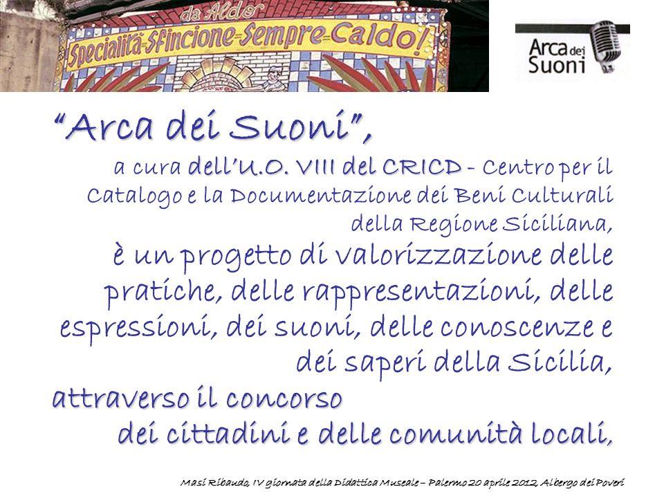 Arca dei Suoni, dellU.O.VIII del CRICD a cura dellU.O.