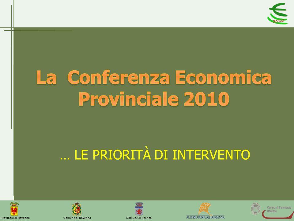 Comune di Ravenna Comune di FaenzaProvincia di Ravenna … LE PRIORITÀ DI INTERVENTO